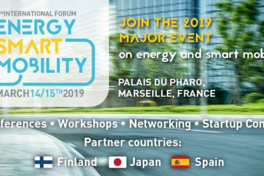 Finland, Japan & Spain → Partner Countries of 2nd Forum Energy for Smart Mobility – March 14th & 15th 2019, in Marseille