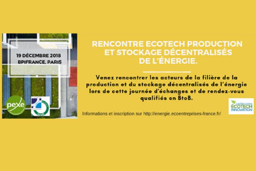Flexgrid participe aux Recontres EcoTech Innovation du 19 décembre 2018 à Paris